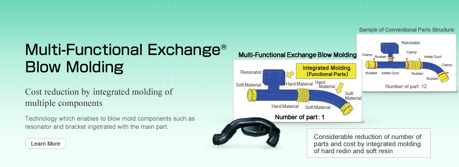Multi-Functional Exchange Blow Molding